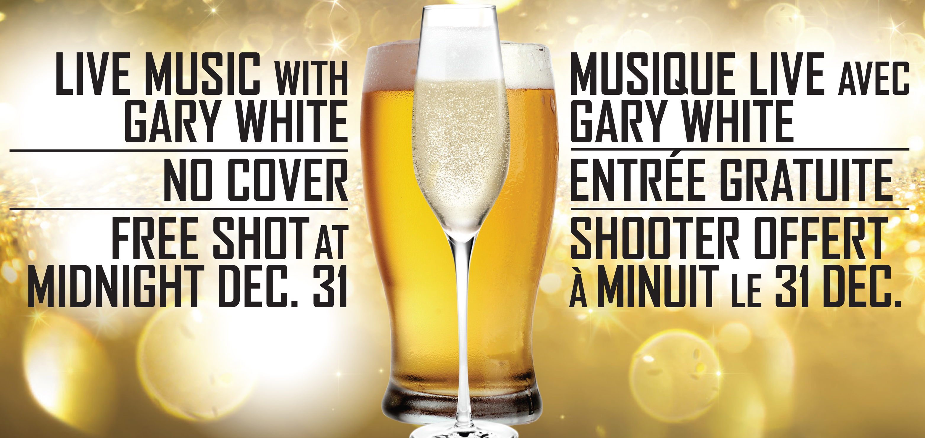 New Year's Eve with Gary White and DJ Vertigo
